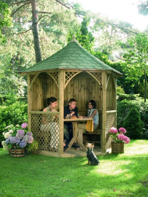kiosque en bois pour jardin. Black Bedroom Furniture Sets. Home Design Ideas