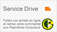 Après vos achats de plantes sur notre jardinerie en ligne Grandiflora, notre service drive disponible aux Pépinières Gicquiaud à Saint Lyphard en Loire Atlantique.