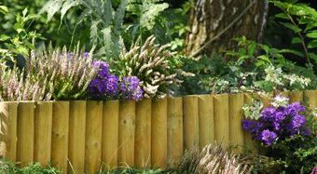 Bordure demi rondin - Rondin de bois pour jardin ...