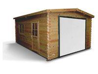 Garage en bois finitions haut de gamme MURAVA Porte incluse pour LDD