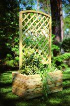 Jardinière rectangulaire avec treillis arqué petite