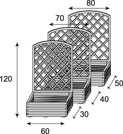 jardini re rectangulaire avec treillis arqu. Black Bedroom Furniture Sets. Home Design Ideas