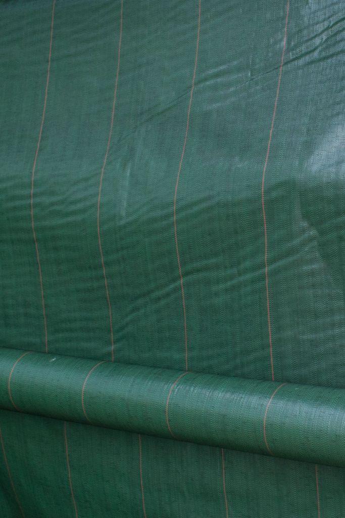 Toile tissée verte en 3,30 m