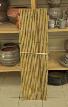 Treillis en cannes de bambou extensible, 3 m x 1 m, pour décorer ou supporter une plante grimpante.