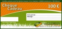 chèque cadeau 100 euros, valable 1 an sur tout le site Grandiflora, un grand choix de plantes au meilleur prix.