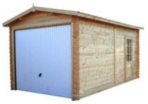 Garage en bois finitions haut de gamme ATLANTA Porte incluse pour LDD