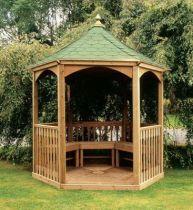 Kiosque Appleton et toit en bois