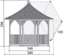 Kiosque hexagonal Vivaldi petit modèle