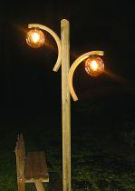 Lampe symétrique avec 2 arcs